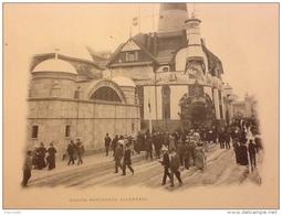 SUPERBE PHOTO ( HÉLIOTYPIE ) PARIS  1900 PAVILLON MARINE MARCHANDE ALLEMANDE PARIS 1900 EXPOSITION UNIVERSELLE - Documents Historiques