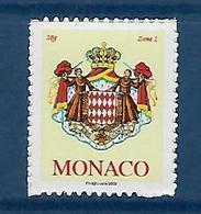 "Monaco YT 2676 "" Armoiries, Adhésif Europe "" 2009 Neuf** - Monaco"
