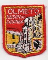 ECUSSON TISSU  FEUTRINE ROUGE    OLMETO     MAISON DE COLOMBA - Patches