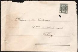 Lettre (Hirsch & Co) Affranchie Avec Un Timbre Préoblitéré Envoyée De Bruxelles Vers Feluy En 1902 - Precancels