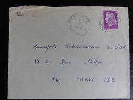 Ambulant Neussargues à Aurillac -1968- Sur Marianne Cheffer 1536 - Sur Devant De Lettre - Marcophilie (Lettres)