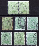 Albert 1er N° 137 5c  7ex  Dont Une Paire Liège - Used Stamps