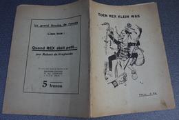 "Aalst Rexisme "" Toen Rex Klein Was "" Firmin Verbrugghen Contra Rex Liberaal Zeer Zeldzame Brochure 1937 Leon Degrelle - Documents Historiques"