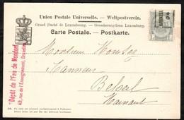 Carte Illustrée Affranchie Avec Un Timbre Préoblitéré Envoyée De Bruxelles Vers Beloeil En 1904 - Precancels