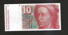 SVIZZERA / SUISSE - NATIONAL BANK - 10 FRANCS / L. EULER - Suisse