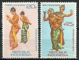 Indonesia 1970 Mi 672-673 MNH ( ZS8 INS672-673dav106B ) - Berühmt Frauen