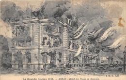 PAS DE CALAIS  62  ARRAS  HOTEL DES POSTES EN FLAMMES  GUERRE 14 18 - Arras
