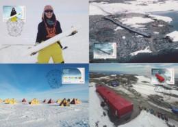 Australian Antarctic 2019 Casey Research Station 50 Years Set Of 4 Maximum Cards - Cartes-maximum