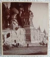 Ancienne Photo Collée Sur Carton Palais RUSSE Scène Animée RUSSIE Au 19eme XIXe Dimensions : 10,1 X 8,5 Cm. - Photos