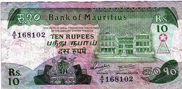 Ancien Billet De L'Île Maurice - 10 Rupees 1985 - - Mauritius