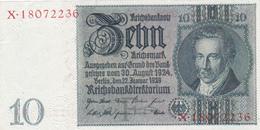 BILLET ALLEMAGNE De 1929 - 10 REICHSMARK - Portrait De Albrecht D. Thaer  @ WPM N°173b - 1918-1933: Weimarer Republik