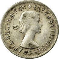 Monnaie, Australie, Elizabeth II, Threepence, 1955, Melbourne, TTB, Argent - Monnaie Pré-décimale (1910-1965)