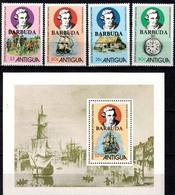 MVS-BK1-213-2 MINT ¤ BARBUDA MAIL KOMPL. SET ¤ MARITIEM - VOILIERS - ZEILSCHEPEN - SAILING SHIPS OVER THE WORLD - Maritiem