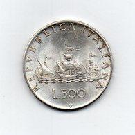 """ITALIA - 1958 - 500 Lire """"Caravelle"""" - Argento 835 - Peso 11 Grammi - (MW2188) - 1946-… : Repubblica"""