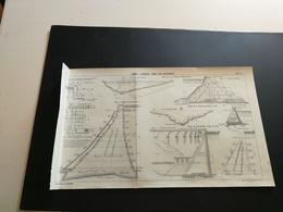 """ANNALES PONTS Et CHAUSSEES (Italie) - Plan Des Digues """"A Gravita"""" Pour Lacs Artificiels - Imp.A.Gentil - 1920 (CLA47) - Cartes Marines"""