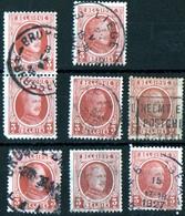 Albert 1er Houyoux 1922  3c Brun 8ex  / Liège - Used Stamps
