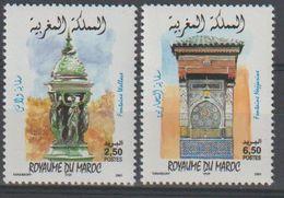 Maroc. Morocco. 2001. Fontaines. émission Conjointe Avec La France. - Maroc (1956-...)