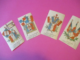 4 Images Chromo De Drapeaux/Révolution Française-Premier Empire-Louis Philippe- Epoque Contemporaine/ 1880- 1900  IMA542 - Flags