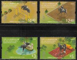 Hong Kong 2008 Equestrian Olympics Set 4v Unmounted Mint [3/2498/ND] - 1997-... Chinese Admnistrative Region