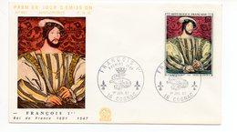 FDC France 1967 : François 1er Roi De France (par Jean CLOUET) YT 1518 - 16 Cognac - FDC