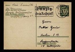 A6101) Danzig Karte 01.08.36 Danzig 5 Werbestempel N. Berlin - Abstimmungsgebiete
