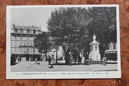 BARCELONNETTE (04) - PLACE MANUEL ET GRAND HOTEL DES ALPES - Barcelonnette