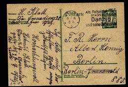 A6102) Danzig Karte 15.07.30 Danzig 5 Werbestempel N. Berlin - Abstimmungsgebiete