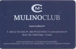 Carte De Casino : Mulino Club - Croatie (Bon État) - Cartes De Casino