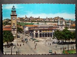 (FG.O23) BERGAMO - PIAZZA VITTORIO VENETO E TORRE AI CADUTI (viaggiata) - Bergamo