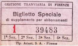 ** GESTIONE TRANVIARIA DI FIRENZE.-** - Europe