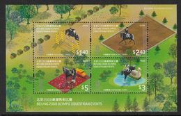 Hong Kong 2008 Equestrian Olympics Miniature Sheet Unmounted Mint [3/2508/ND] - 1997-... Chinese Admnistrative Region