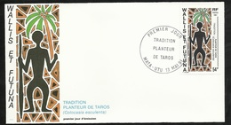 W. Et F.  Lettre Illustrée  Premier Jour Mata-Utu Le 13/05/1991 N°413 Tradition Planteur De Taros Colocasia Esculenta TB - Covers & Documents