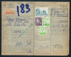 """Vrachtbrief Van """"ANDERLECHT"""" Naar  """"BRUSSEL""""  + Vignet """"REMBOURSEMENT/VERREKENING"""" - (ref. Nr 378) - 1952-...."""