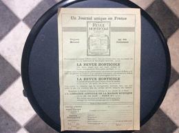 DOCUMENT COMMERCIAL  REVUE HORTICOLE  LE PETIT JARDIN  *Fleurs *Fruits  LIBRAIRIE AGRICOLE DE LA MAISON RUSTIQUE  Paris - Agriculture
