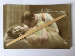 COUPLE ART DECO  EROTIQUE SEXY «Le Baiser Caressant»1918 ( DIX 500/s) - Koppels