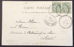 V19 Cachet Tireté St Béron Savoie Blanc 5c 111 X 2 CPA Reynaud Gorges De Chailles  391 - Postmark Collection (Covers)