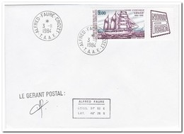Frans Antarctica 1984, Stamp Exhibition NORDPOSTA, Hamburg ( Signature ) - FDC