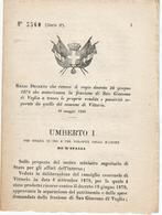 REGIO DECRETO DOGANA SAN GIACOMO DI VEGLIA VITTORIO VENETO TREVISO - Non Classificati