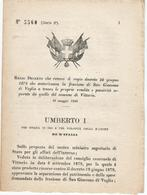 REGIO DECRETO DOGANA SAN GIACOMO DI VEGLIA VITTORIO VENETO TREVISO - Oude Documenten