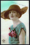 FEMME - CP - Jeune Femme Avec Chapeau - Circulé - Circulated - Gelaufen - 1923. - Femmes
