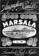 """D9223 """"MARSALA - AUGUGLIARO LAMIA - LAMBERTO  PRAT & FIGLO"""".  ETICHETTA ORIGINALE. - Etichette"""