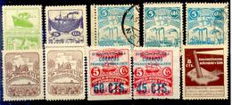 Lote Asturias Y Leon 1936/7 Guerre D' Espagne . Edifil 2017 48.00 Euros - Viñetas De La Guerra Civil