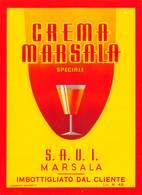 """D9224 """"CREMA MARSALA SPECIALE - S.A.U.I. - IMBOTTIGLIATO DAL CLIENTE"""".  ETICHETTA ORIGINALE. - Etichette"""
