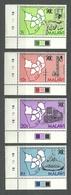 Malawi, 1985 (#445-48b), Forestry, Communications, Rail Transport, Fishing, Map, Southern African Development Coord. Con - Fabriken Und Industrien