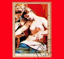 Nuovo - GUINEA EQUATORIALE - 1973 - Dipinti Di Nudi Di Pittori Europei - Cagnacci - La Morte Di Cleopatra - 2 - Guinea Equatoriale