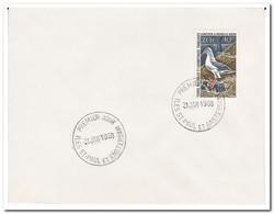 Frans Antarctica 1968, FDC, Birds - FDC