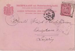 INDES NEERLANDAISE 1894   ENTIER POSTAL/GANZSACHE/POSTAL STATIONERY CARTE DE TEGAL - Indie Olandesi