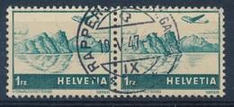 "HELVETIA - Mi Nr 392 (paar) - Cachet ""RAPPERSWIL (ST-GALLEN)"" - (ref. 1279) - Airmail"