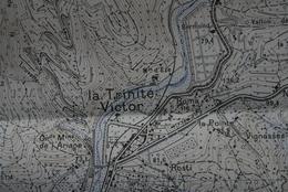 Carte 1/20 000 Editée 1957 MENTON 6 (Vallée Du Paillon, De Drap à Contes, Blausasc, Trinité-Victor) -bon état - Cartes Topographiques