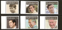 Gibraltar 2018 Micheln° 1879-1884 *** MNH  Prince Charles - Gibraltar